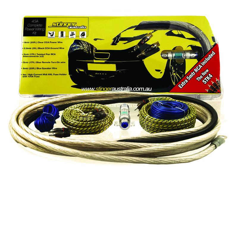 stinger australia 4ga amplifier wiring kit  stinger wiring harness #13