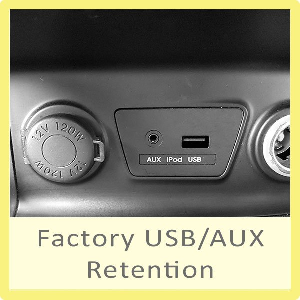 Factory USB/AUX Retention Products